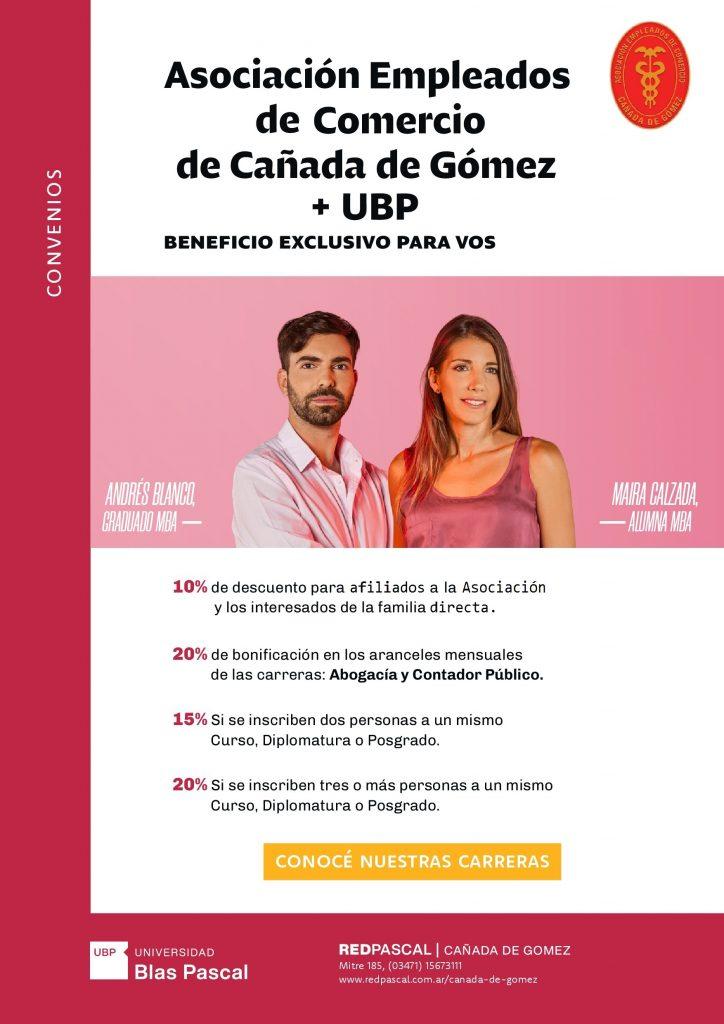 Afiche - Asociación Empleados de Comercio de Cañada de Gómez
